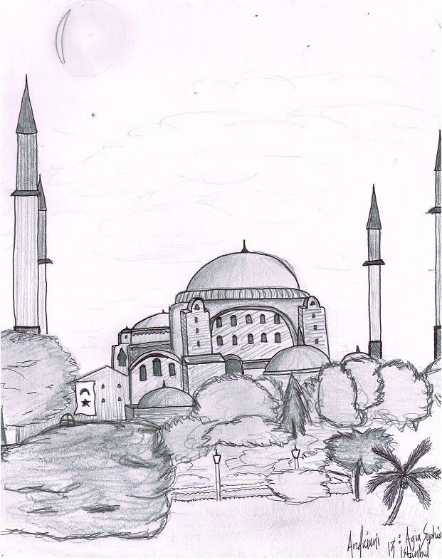 Sketching Sights: Hagia Sophia – Nicholas AndrianI ...