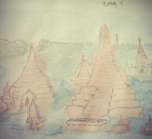 Sketching Sights: Burma on My Mind